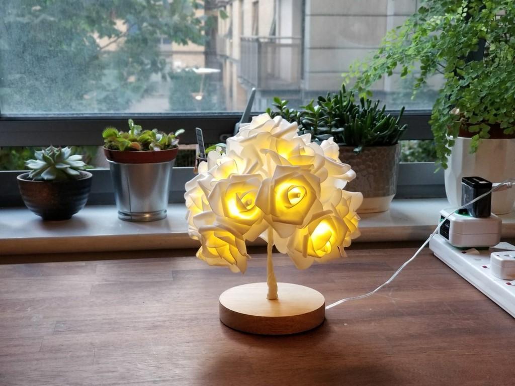 白戀人之樹 DIY小夜燈